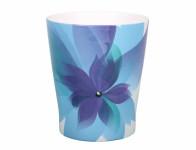 Obal na kvetináč HOLLYWOOD FLORAL keramický modrý 13x15cm