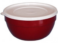 miska polievková 13cm s viečkom plastová - mix farieb