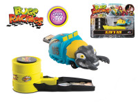 Bugs Racings 9 cm foukni a jeď se samolepkou a odpalovačem - mix variant či barev
