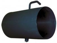 rúra dymová s klap.125mm / 500 t.1,5mm ČER