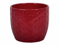 Obal na kvetináč KIRUNA keramický červený d16x15cm