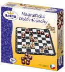 Magnetické cestovné šach drevo spoločenská hra