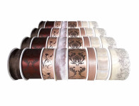 Stuha JARO dekorační cívka mix béžovo-hnědá