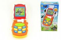 Krtkov mobil telefón meniace obrázky Krtko oranžový plast so svetlom a so zvukom v krab.12x21x5cm 6m +