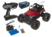Auto terénní velká kola RC 25cm+dobíjecí pack plast na baterie - mix barev