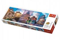 Puzzle Koláž pamiatky Taliansko panoráma 500 dielikov 66x23,7cm