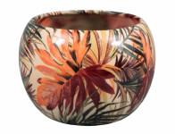 Obal na kvetináč MANES PALMA keramický lesklý d11x10cm