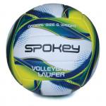 Spokey LAUFER Volejbalový míč bílo-modro-žlutý rozm. 5