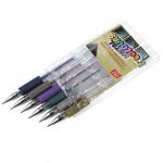 Metal gélové pero - mix farieb - 6ks / sada