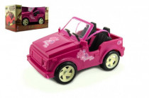 Auto pro panenky růžové plast 30cm volný chod