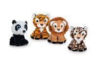 Zvířátko safari plyšové 21 cm sedící - mix variant či barev