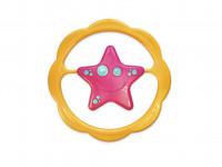 Hrkálka hviezda plast 13cm v sáčku 0m + - mix farieb