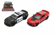 Auto Kinsmart Chevrolet Camaro polícia / hasiči 12cm kov na spätné natiahnutie - mix farieb