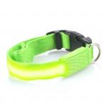 Svietiace LED obojok s USB nabíjaním, zelený, Domestico