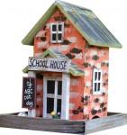 Krmítko venkovní dřevo - School House, SEKR 18 x 18 x 24 cm