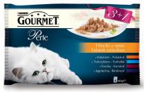 Gourmet Perle cat kaps.- Multipack filety v šťave 4 x 85 g (3 + 1ZADARMO)