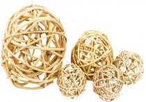 Dekorace - Lata Ball 2 cm - přírodní 10 ks