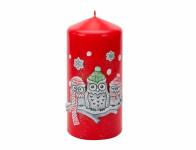 Sviečka vianočné SOVA ZIMNÉ VALEC d6x13cm