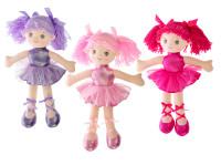 Bábika baletka handrová 40 cm - mix farieb