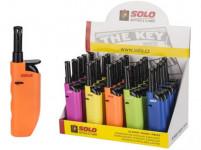 zapaľovač SOLO 12cm plamienkový - mix farieb