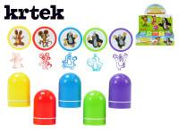 Pečiatky Krtek plast 4cm - mix farieb - VÝPREDAJ
