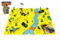 Sada vojaci s mapou plast v sáčku 21,5x30cm - mix farieb