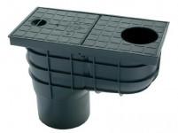 lapač strešných vôd LSV DN 110mm plastový, ČER