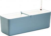 Plastia truhlík samozavlažovací Berberis - sivomodrá + biela 60 cm