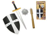 Sada rytířská meč 50 cm, štít a řemdih