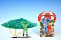 Parašutista vojak plast 11cm s padákom - mix variantov či farieb