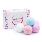Cuculo Kúpeľové bomby do vane s rastúcimi kapsulami vnútri, pre dievčatá, 6 ks