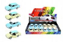 Auto Welly Trabant 601 kov 10cm voľný chod - mix farieb