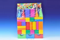 Stavebnica kocky veľké 30ks plast v sáčku