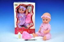 Panenka miminko pevné tělo 38cm s doplňky - mix variant či barev