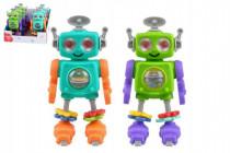 Robot na kolieskach hrkálku plast 20cm 24m + - mix farieb