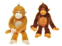 Opica plyšová dlhé nohy 60 cm - mix farieb