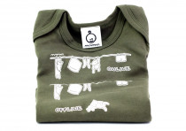 Dětské tričko Mayaka s dlouhým rukávem Online/offline - khaki