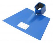 Motyka bez násady - plochá š. 175 mm - modrá