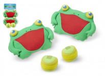 Catch ball / Lambada Skokan zábava hra žaby chňapky so suchým zipsom 2ks plyš