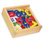 Magnetky čísla dřevěné 37 ks