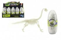 Vajcia dinosaurus svietiaci 3D kostra plast 18cm asst - mix variantov či farieb