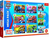 Puzzle 10v1 Tlapková patrola tím