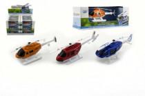 Vrtuľník / Helikoptéra kov / plast 10cm - mix farieb