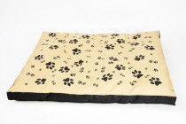 Matrac nylon Sucharda béžovo / čierna labka 90 x 60 x 12 cm