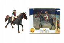 Kôň + džokej plast 13cm