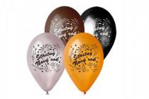 Balónik nafukovacie 11 '' priemer 30cm šťasná Nový rok