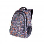 Easy flow 920773 Batoh studentský tříkomorový oranžovo-šedý, maskač, 26 l