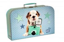Kufřík Pejsek Star modro/zelený 35 cm