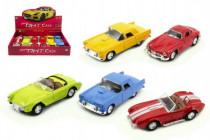 Auto plast/kov 13cm na baterie se světlem a zvukem na zpětné natažení - mix variant či barev