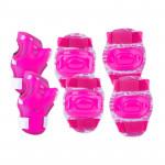Spokey Aegis 3-dielna sada detských chráničov ružové veľkosť L